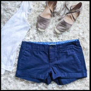 EUC Merona Cuffed Shorts- Navy